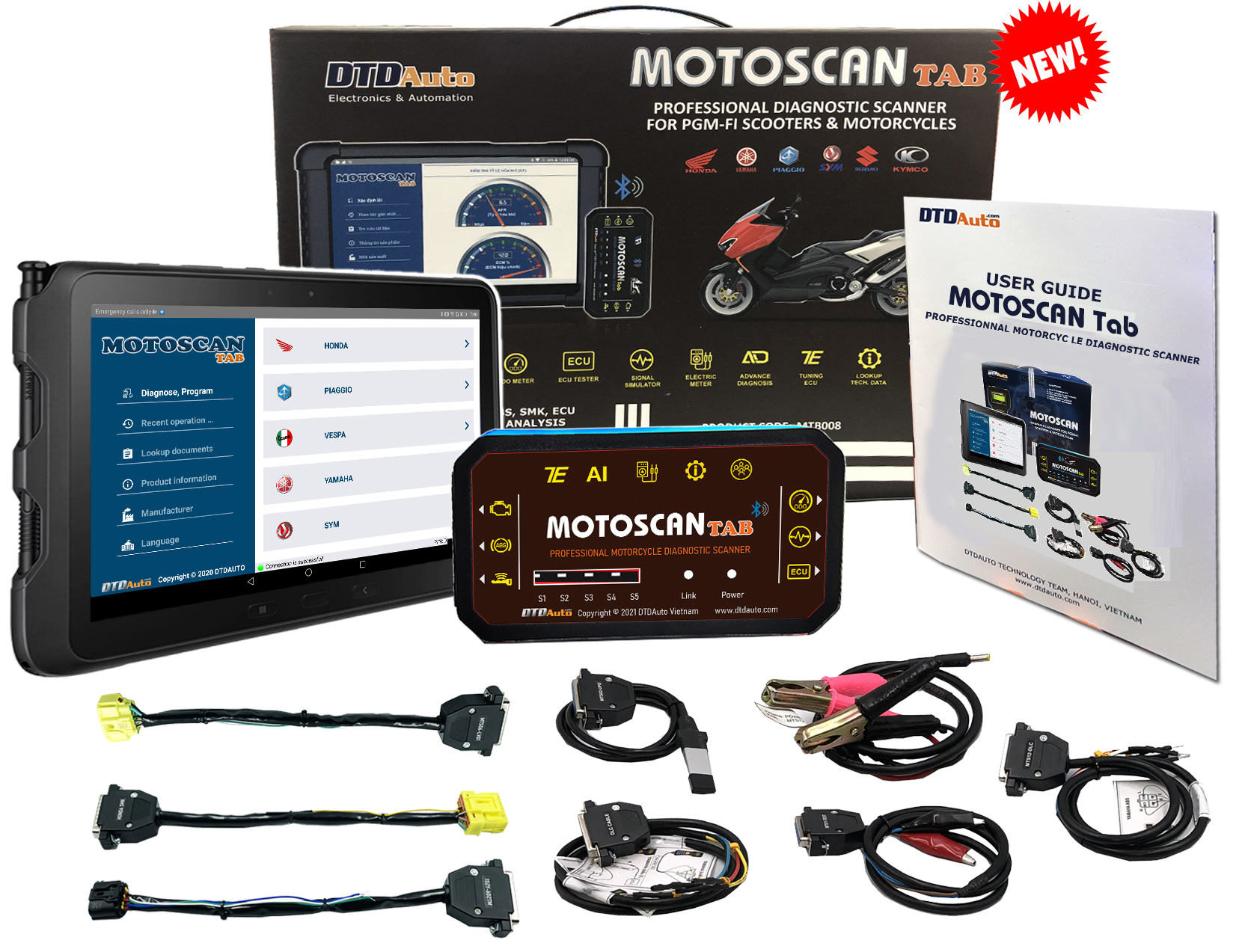 MOTOSCAN TAB - SMART DEVICE TO DIAGNOSE, REPAIR ELECTRONIC AND ELECTRICAL SYSTEMS FOR NEW GENERATION MOTORCYCLES