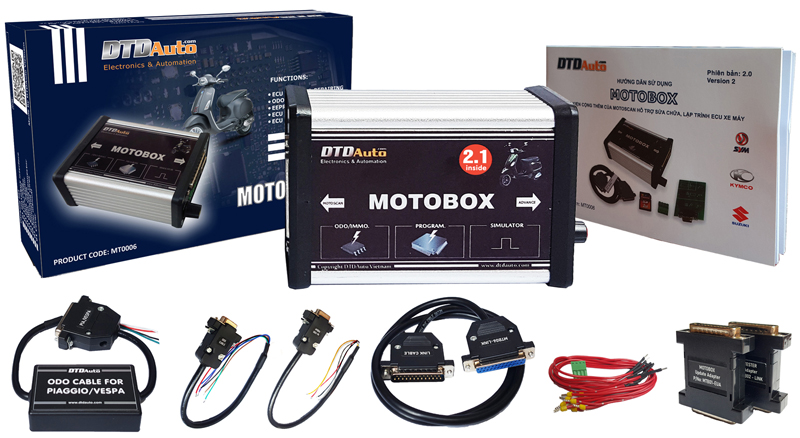 MOTOBOX – AN ACCESSORY OF MOTOSCAN TO REPAIR, REINSTALL AND UPGRADE THE ECU FIRMWARE FOR MOTORCYCLE/ SCOOTER